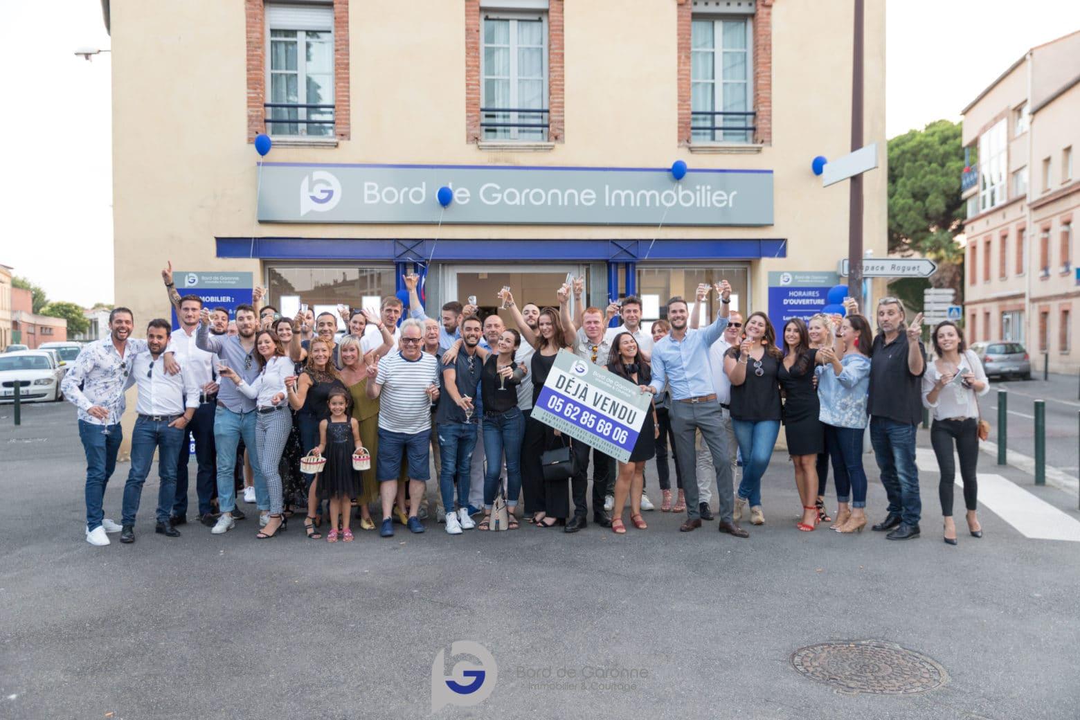 Nous étions à l'inauguration de Bord de Garonne Immobilier !
